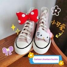 Shoe-Buckle Decorative Sneakers Canvas-Shoes Anime Cartoon DIY 1PCS Children's Student