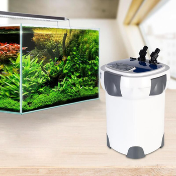 3000L/h SUNSUN HW-3000 LCD Display 4-Stage Aquarium External Canister Filter with 9W UV Sterilizer for Fish Tank Up to 300-750L 3000l