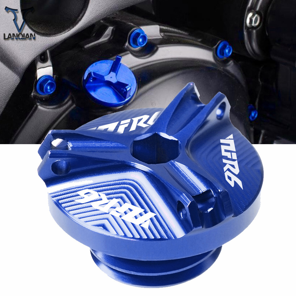 For <font><b>Yamaha</b></font> YZF-<font><b>R6</b></font> 1999 <font><b>2000</b></font> 2001 2002-2016 Motorcycle Accessories Aluminum Motorbike Engine Oil Cup Plug Sump Cap Cover Engine image