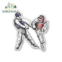 EARLFAMILY 13cm x Martial Arts Car Stickers Anime Fine Decal Air Conditioner Waterproof Refrigerator Graphics Accessories