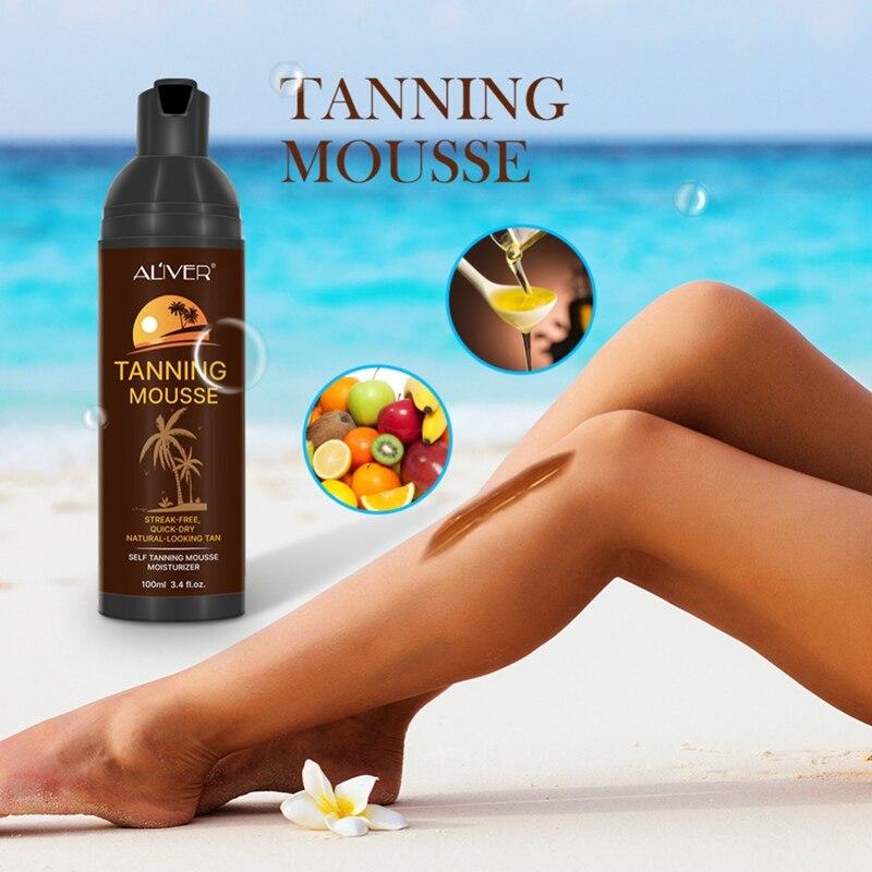 Body Self Tanners Cream Tanning Mousse For Bronzer Face Body Nourishing Skin Sun Block Makeup Medium Skin Care Solarium Cream
