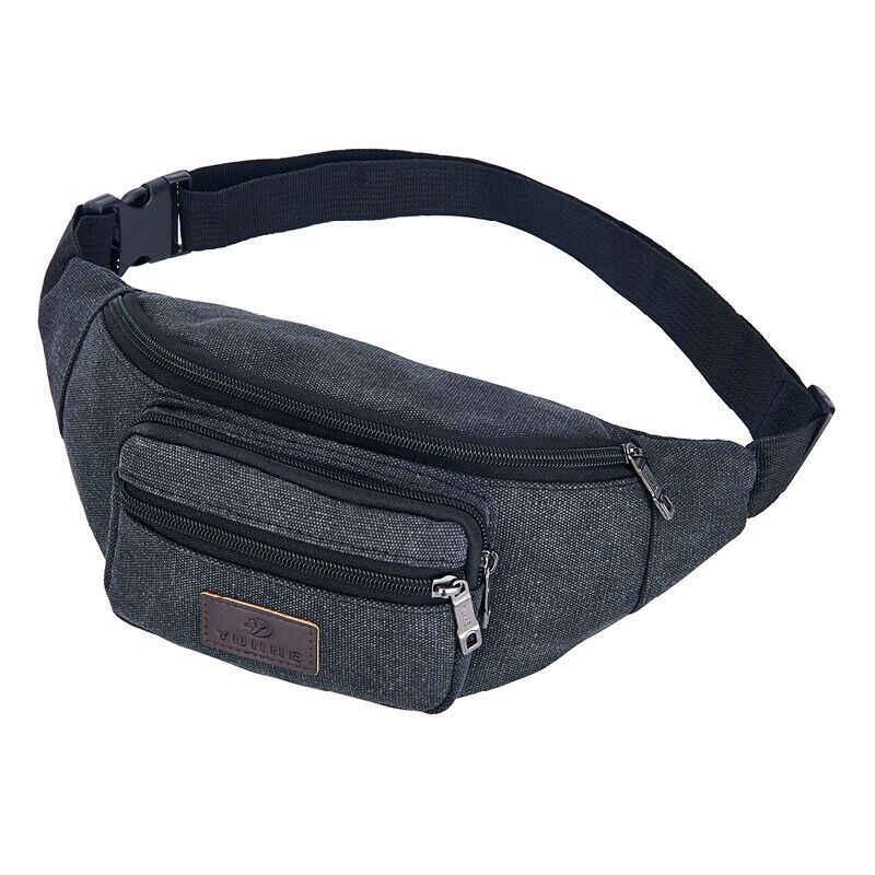 新ファッション男性女性サイクリング · バッグファニーパックマネーポーチ財布旅行バッグ黒ブラウングリーンカーキ