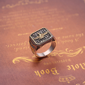 Image 4 - Vintage Religious Ring Islam Iran Faravahar Ahura Mazda Rings Gold Color Zoroastrian Ring Men Male Hip hop Jewelry Gifts