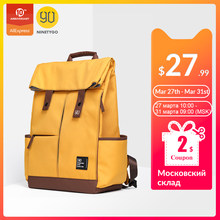 Ninetygo 90Fun College Remaja Ransel Laptop Fashion Leisure Tahan Air Bagpack Unisex Kasual Komputer Tas Sekolah 14/15.6 Inch(China)