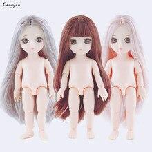 Porcelain muscle color Barbie doll 3D true eye beauty 16 cm DJD change makeup body Burberry girl like toy gift