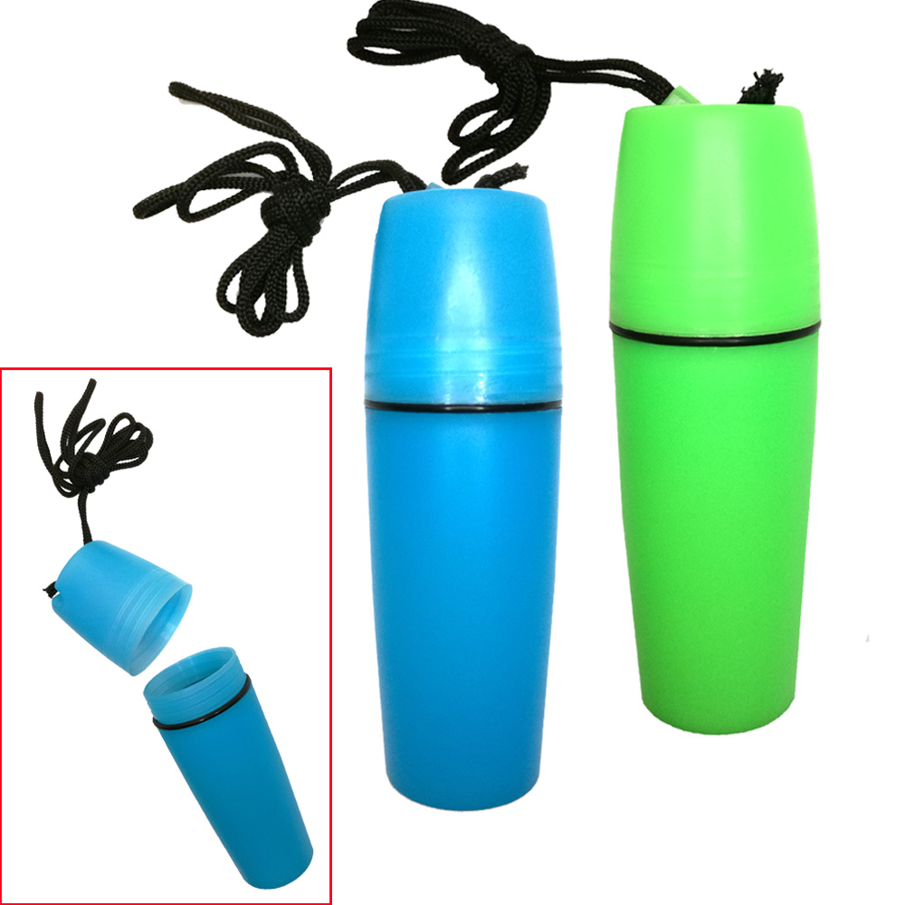 Kayak Boat Sailing Swimming Waterproof Dry Container Box Portable Durable Plastic Dry Bottle With Lanyard