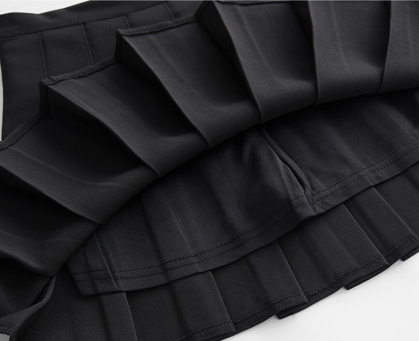 Hadba92377d9b419a81b2bec4c52a646ap - Sexy Women Pleated Skirt Lovely Girl School Uniform Skirt Solid High Waist Mini Skirts Cute Female Pleated Mini Skirts