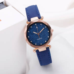 Fashion Starry Sky Flat Glass Rhinestone Quartz Ladies Watch women watch Dress watch Party decoration gifts Hot Rose Gold Hot