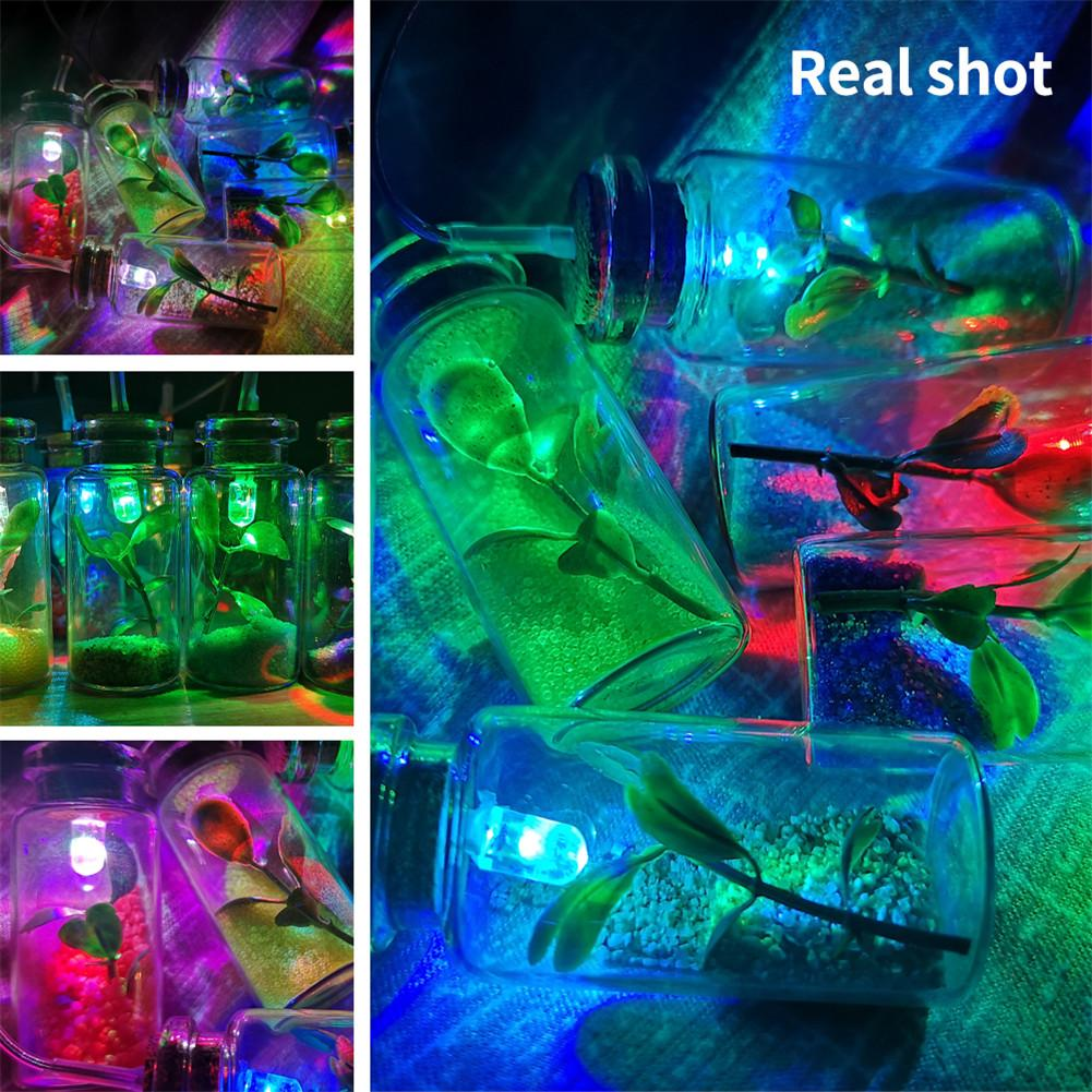 Intelligent Light Controlled Night Light Solar Wind Chime Light Wishing Bottle Solar Light Powered LED Wind Chime