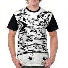 HG-35 ponto central em todo o imprimir camiseta engraçado dos homens t camisa das mulheres topos