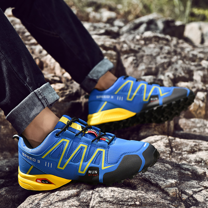 Casual Sports Shoes Men Climbing Running Riding Shoes Outdoor Sneaker Men Breathable Comfortable Non-Slip Zapatos De XX9816Sa