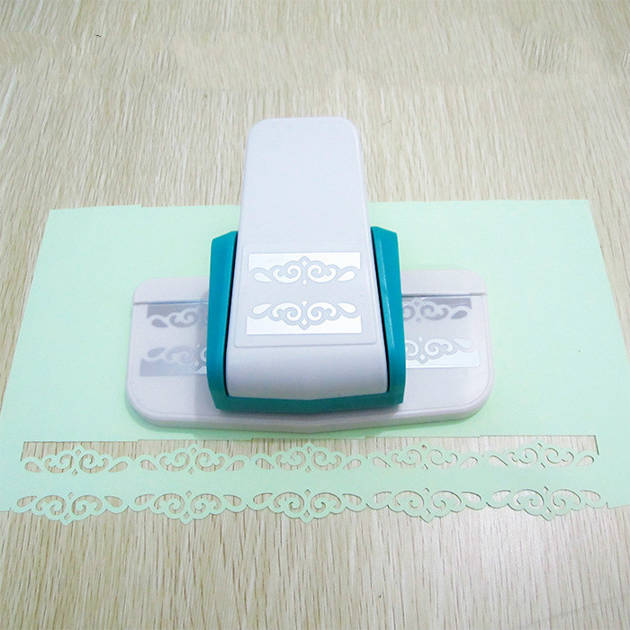 Large Fancy Border Embossing Punch Scrapbooking Machine Handmade Edge Device Diy Paper Punches For Cutter Bilateral Jade Hook title=