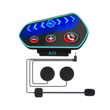 New A10 Moto Helmet Headset Bluetooth 5.0 Ultra thin IP67 LED Motorcycle Earphones Wireless Speaker Headphone Call Music Play