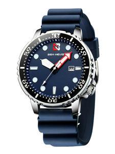 Chronograph Strap Quartz-Watch Date Hands Ben Nevis Silicone-Rubber Waterproof Luminous