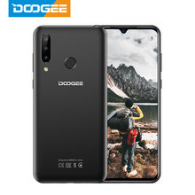 DOOGEE N20 teléfono móvil 64GB 4GB MT6763 Octa Core huella dactilar 6,3 pulgadas FHD + 16MP Triple cámara trasera 4350mAh teléfono móvil LTE