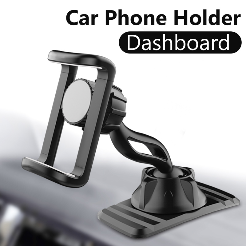 Univerola Dashboard Car Phone Holder Double 360° Rotate Flexible Clip Stand Bracket Support For 4 To 6.5 Inch Mobile Phone
