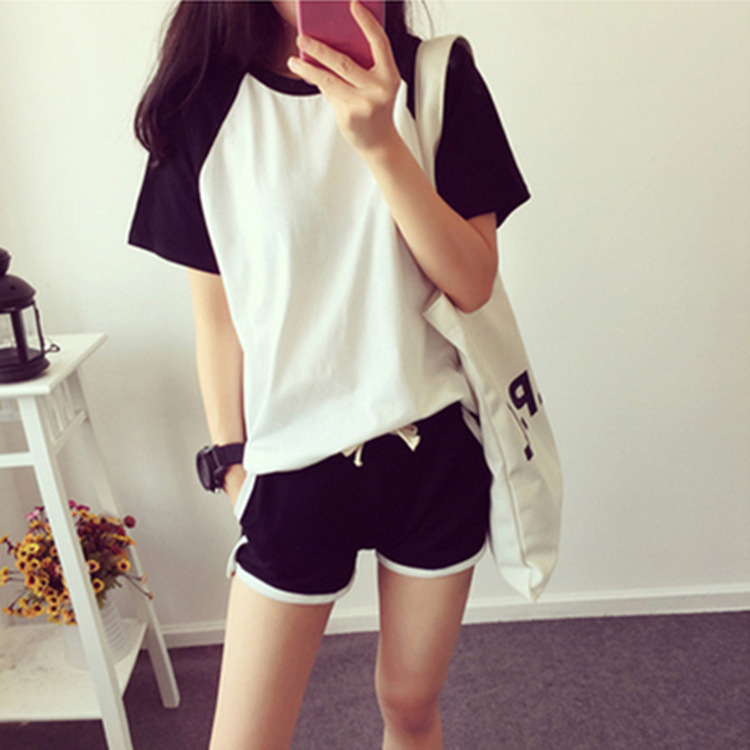 Summer New Style Cartoon WOMEN'S Short-sleeved Clothes Shorts Casual Knit Qmilch Tracksuit Pajamas Suit Hot Selling