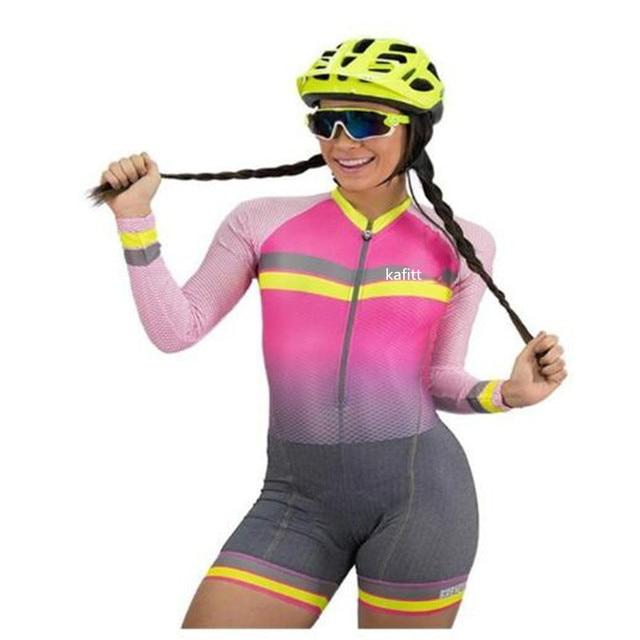 2020-kafitt-women pouco macaco camisa de ciclismo macacão ciclismo verão manga longa terno 9dhel respirável pro 3