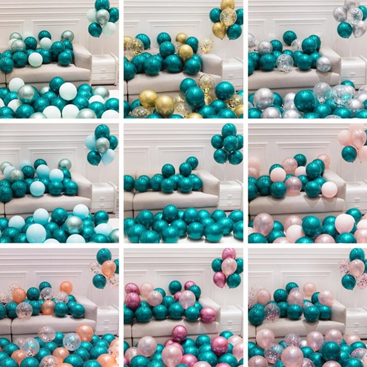 <font><b>30</b></font> Pcs 15 Sets 10inch Double Layer Pearl Teal Green Latex Balloon Turquoise Helium Premium Balloons <font><b>Birthday</b></font> Wedding Party <font><b>Decor</b></font> image