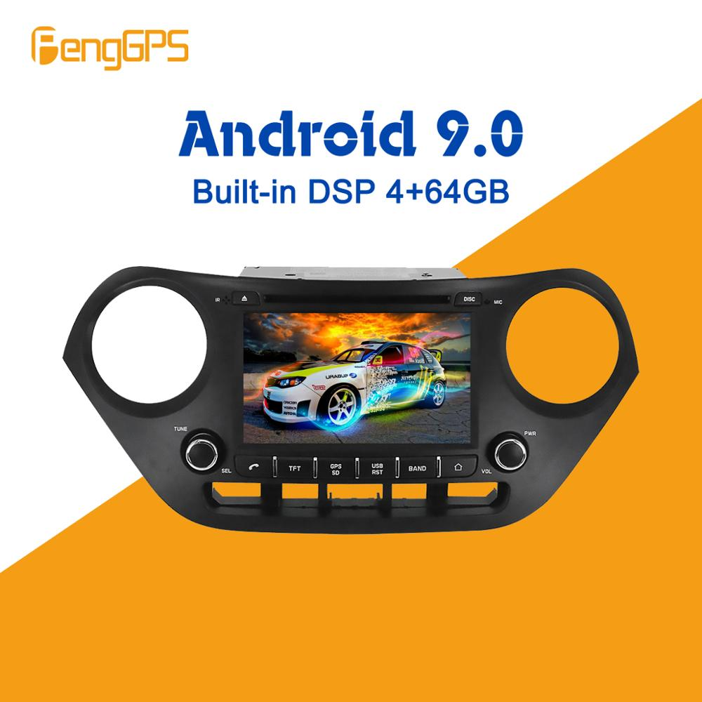 <font><b>Android</b></font> 9.0 4+ 64GB px5 Built in DSP Car DVD Player Multimedia Radio For Hyundai I10 I-<font><b>10</b></font> 2013 - 2018 <font><b>GPS</b></font> Navigation image
