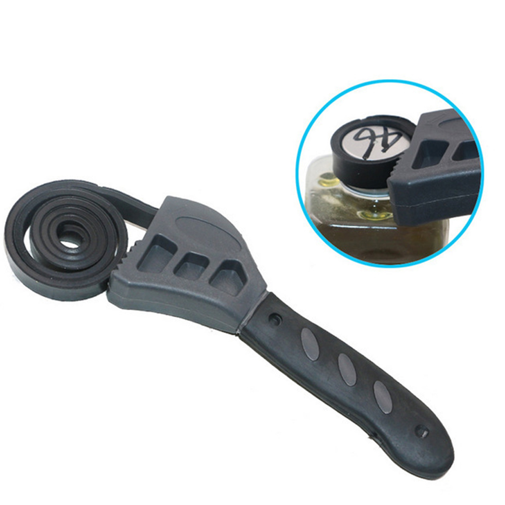 Mini 500mm Multifunction Pipeline Wrench Rubber Strap Wrench Jar Lids Tighten Loosen Plumbing Tool Universal Oil Filter Spanner