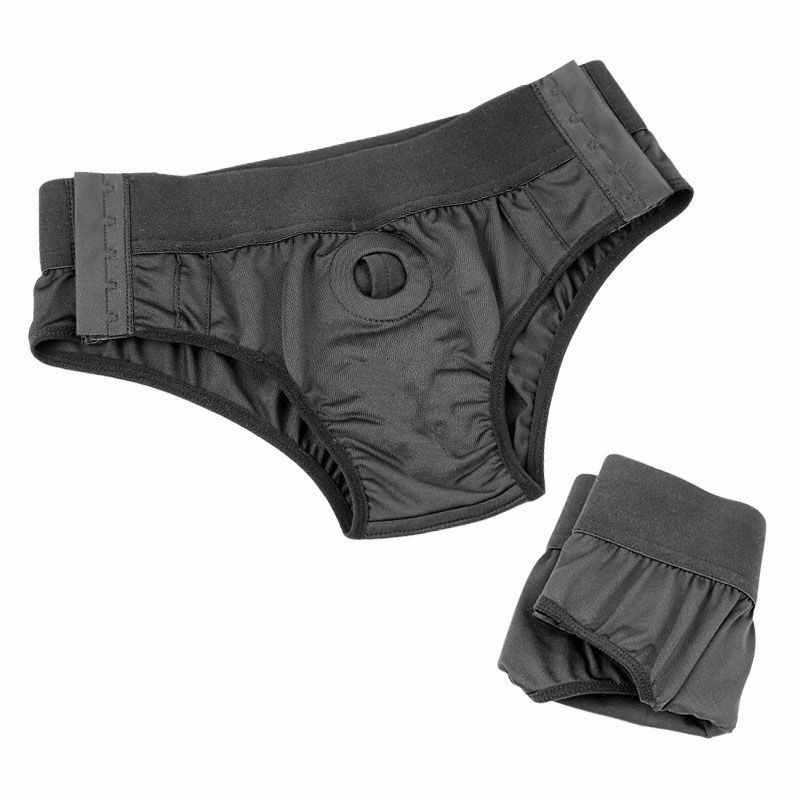 Tragbare Lesben Strapon Höschen Gurt auf Dildo Elastische Unterhose Sex Produkte für Frau Paare Homosexuell Strapon Baum Unterwäsche