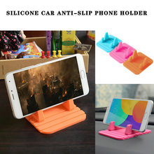 car accessories interior Car Silicone Holder Anti-Slip Phone Bracket Desktop Mat Mount For Mobile Phone phone carrier for car(China)