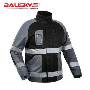 Men's Workwear Clothes Work Jacket Work Wear With Reflective Tapes Working Clothing