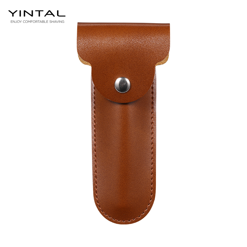 Razor Case Travel Razor Holder Case For Manual Double Edge Safety Razor Razor PU Leather