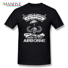Airborne T Shirt Infantry Mom Jump Wings Badge Brot T-Shirt 100 Cotton Man Tee Tshirt