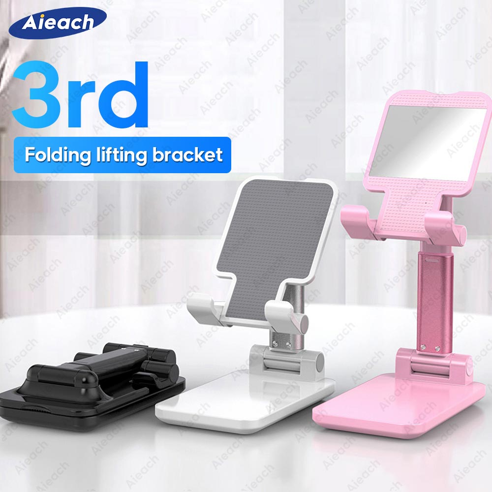 Aieach For IPad Stand Soporte Tablet Stand Desktop Folding Adjustable Tablet Holder For IPad Pro 11 2020 10.5 Air 3 2 10.2 Mini