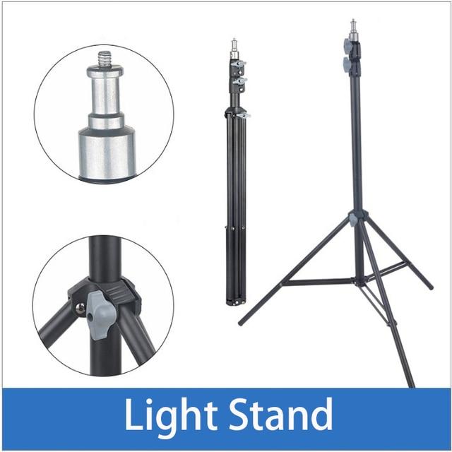 45cm 75cm 110cm 170cm 190cm 200cm Light Stand for photo Studio Flashing softbox ring light Godox lighting Metal Tripod