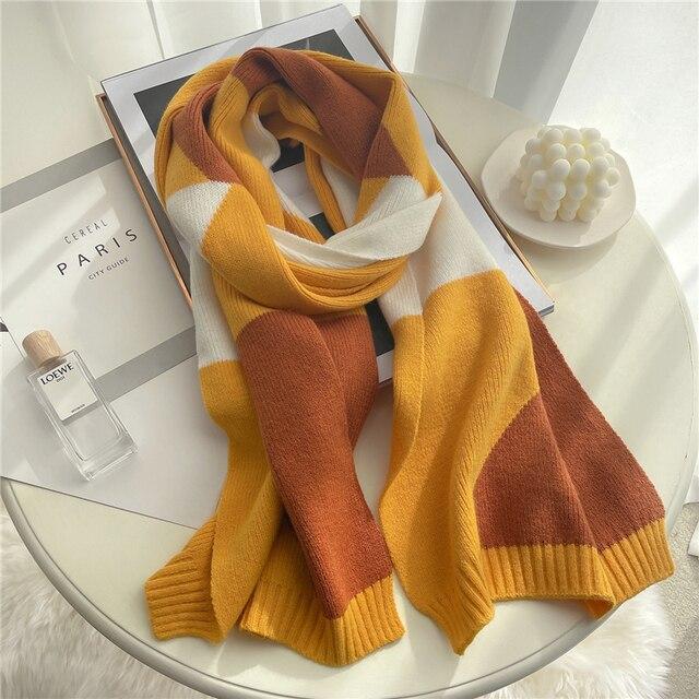 2021 вязанный длинный шарф для женщин 4