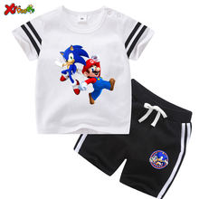 Одежда для маленького мальчика летняя футболка мальчиков комплект