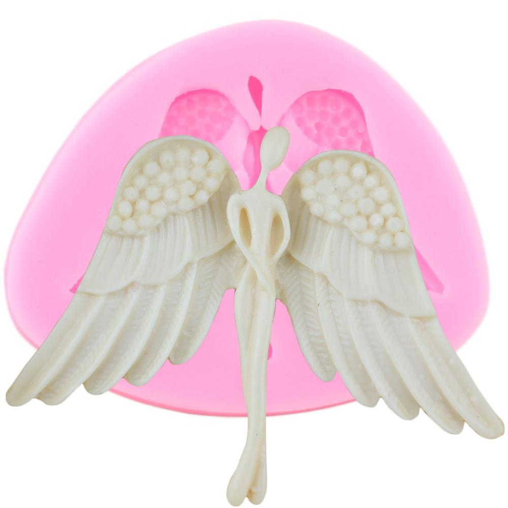 3D <font><b>Angel</b></font> <font><b>Wings</b></font> <font><b>Silicone</b></font> <font><b>Molds</b></font> DIY Party Fondant Cake Decorating Tools Chocolate Gumpaste Candy Polymer Clay Moulds image
