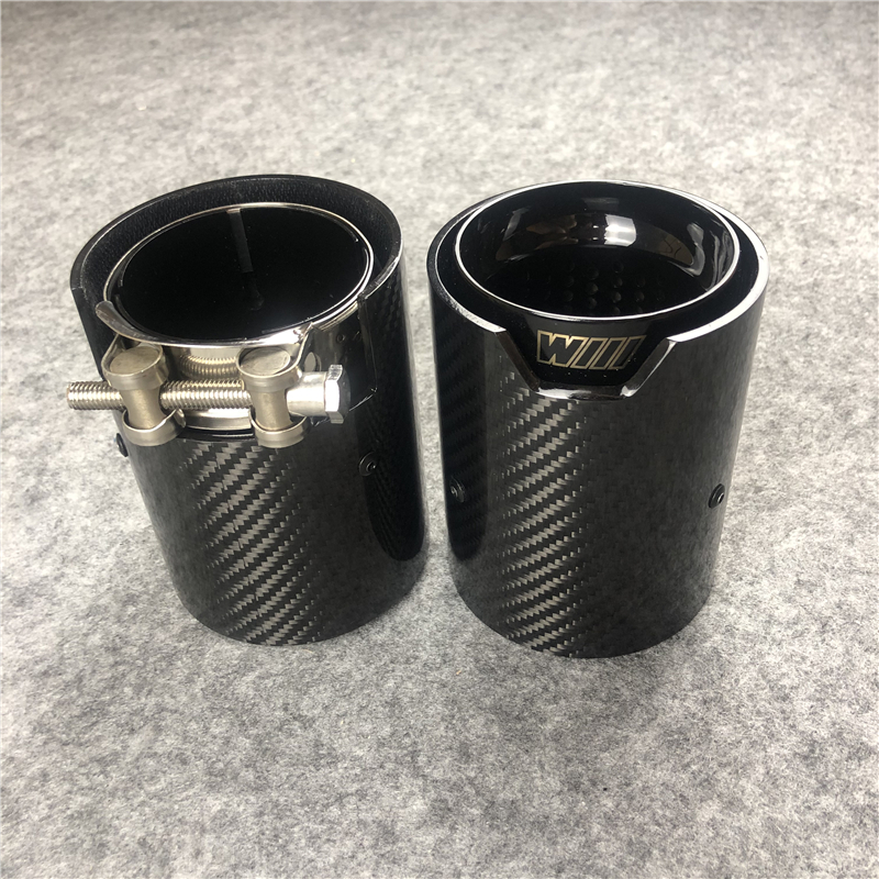 1 Pieces Real Carbon Fiber M Performance Exhausts Tips M4 for BMW M2 M3 M4 Exhaust Tip F80 F82 F87 Exhaust Muffler Pipes title=