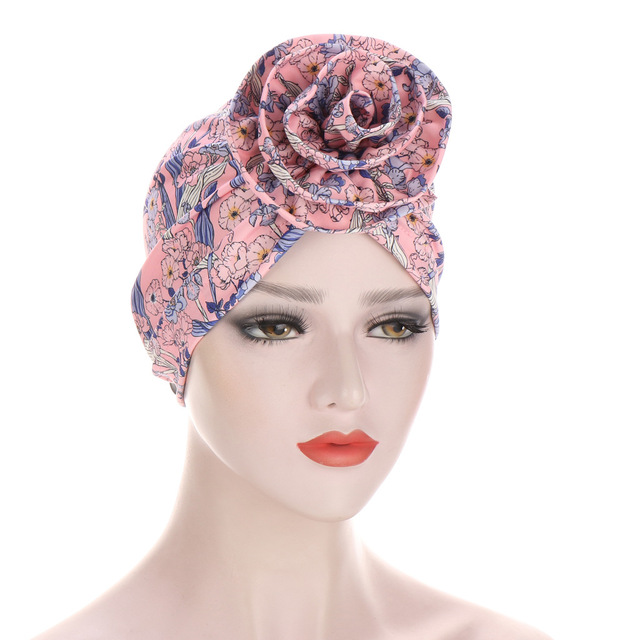 Новый Цветочный тюрбан шляпы для женщин химиотерапия рак головные
