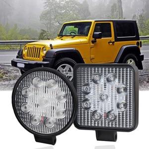 27W 12V Car Worklight Led Light Bar 6000K Auto Driving Ledbar Work Lights Barra Led Spotlight Offroad 4x4 SUV ATV UAZ 1PC