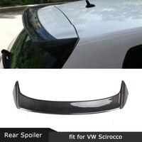 For Volkswagen VW Scirocco Standard 2009 2013 Non R Rear Spoiler Carbon Fiber Roof Wings O Style FRP Trunk Boot Spoiler