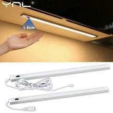 LED sous armoire lumières main balayage capteur lampe DC 12V 30 40 50cm haute luminosité armoire placard pour chambre cuisine lumière maison