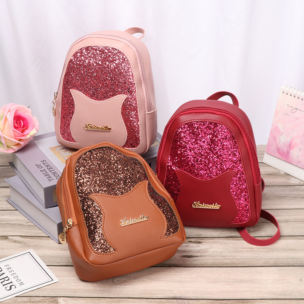 Girls Small Backpack 2020 Fashion Shining Sequin Shoulder Bag Women Mini Back Pack For Teenage Girls Kids Hot Multi-Function