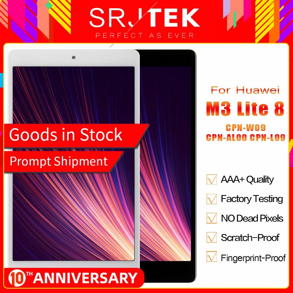 SRJTEK For Huawei MediaPad M3 Lite 8.0 CPN-W09 CPN-AL00 CPN-L09 LCD Display Matrix Touch Screen Digitizer Sensor Glass Assembly