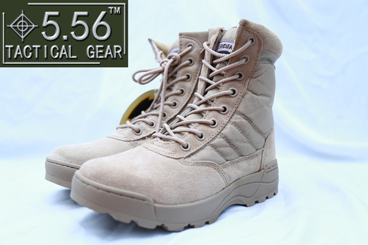 5.56 Breathable Hight-top MEN'S SHOES Combat Boots Hiking Shoes Summer Camp Development Training Desert Boots Outdoor Tactical B
