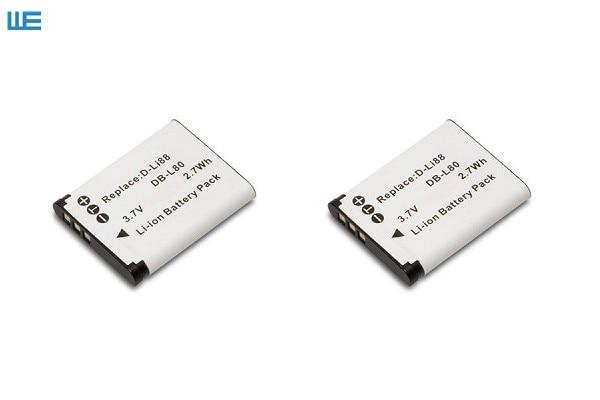 D LI88 DLI88 DBL80 Camera Battery for Pentax Optio P70 P80 WS80 H80 H90 W90 Black Box 18 40C Box18.-in Digital Batteries from Consumer Electronics
