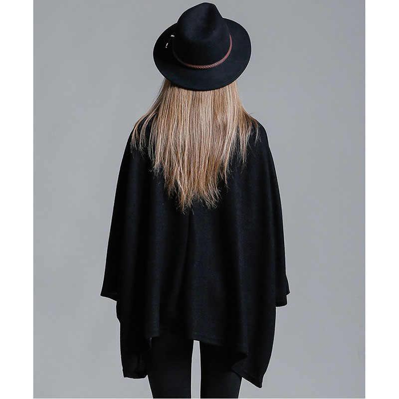 Европа, Соединенные Штаты, женская рубашка большого размера, рукав «летучая мышь», 2019, весна-осень, новое пальто, простой Свободный пуловер, Женский D44