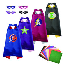 DIY Christmas Halloween Superhero Cartoon Felt Costume Capes Birthday Party Hero Game Cosplay Costumes Cape Free Masks For Kids(China)