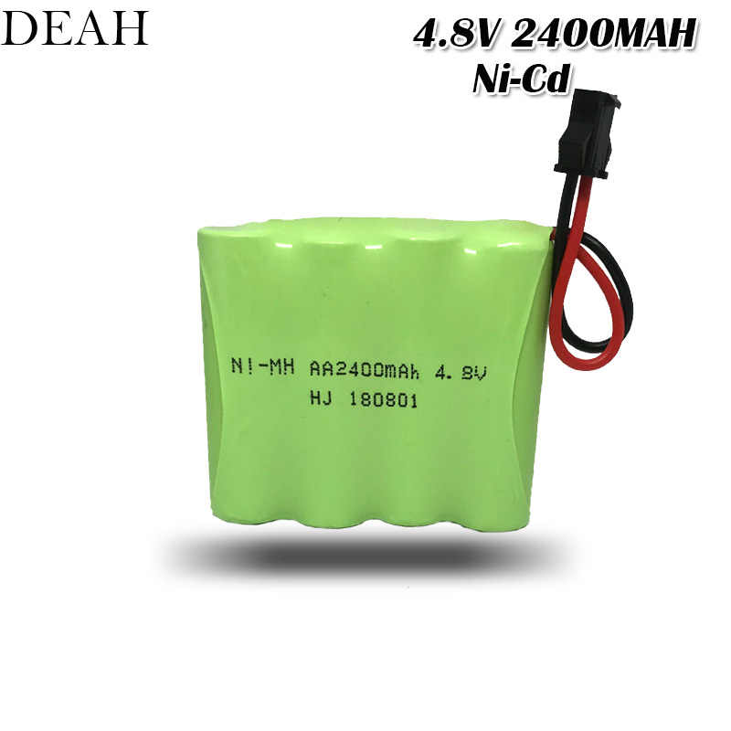 4.8V 2400mAh AA 4*AA Ni-CD Battery pack for RC remote control electric Cars toy lighting power tools model Rechargerable Battery