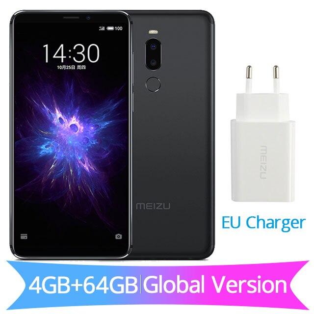 Глобальная версия Meizu Note 8, 4 Гб ОЗУ, 64 Гб ПЗУ, Note8, мобильный телефон Snapdragon 632, четыре ядра, 5,99 дюйма, 2160X1080 P, зарядное устройство европейского стандарта, 3600 мА/ч - Цвет: EU Charger Black