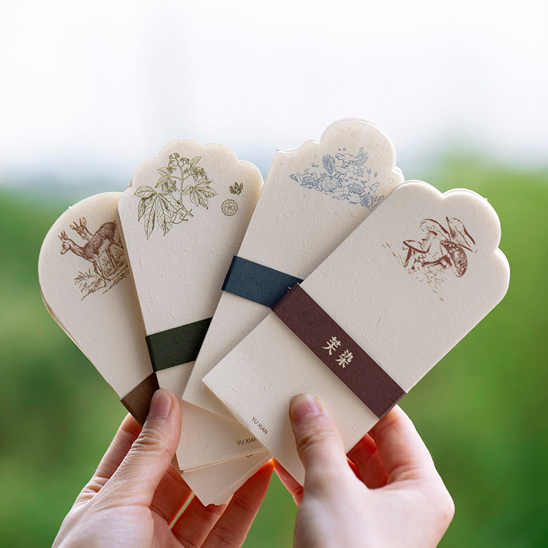 30pcs/1 Lot Retro Story Memo Pad Sticky Notes Escolar Papelaria School Supply Bookmark Notepad Label