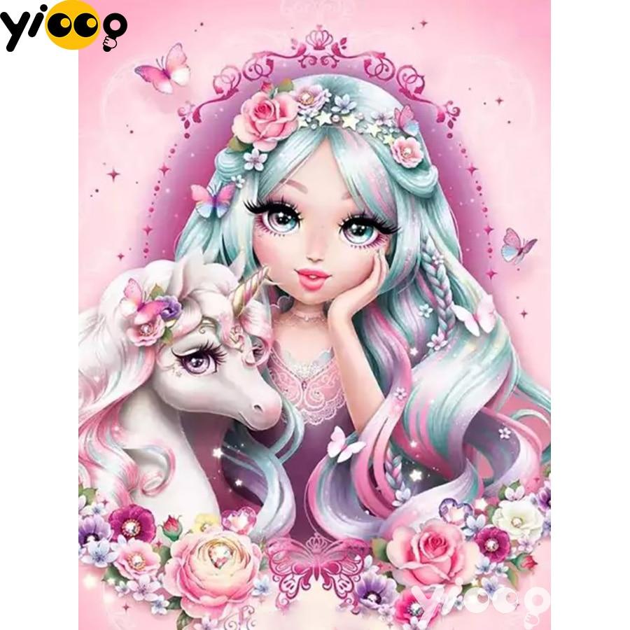 5D Full Drill Embroidery Cross Stitch Art Personality Girls Diamond Painting DIY